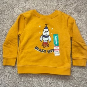 baby boy fleece rocket sweatshirt 18 mo